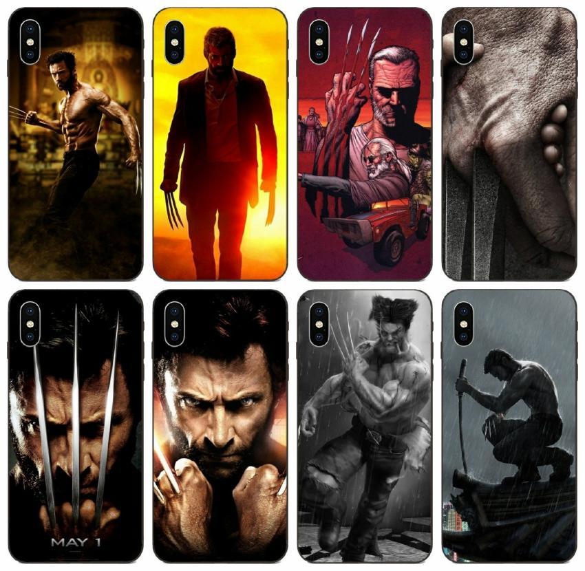 [TongTrade] Le Wolverine Teaser X-Men cas pour l'iPhone 12 X 11 X Xr Pro Max 8 7 6 5 Plus Galaxy J6 J8 Huawei GT3 GX8 Motorola Moto G7