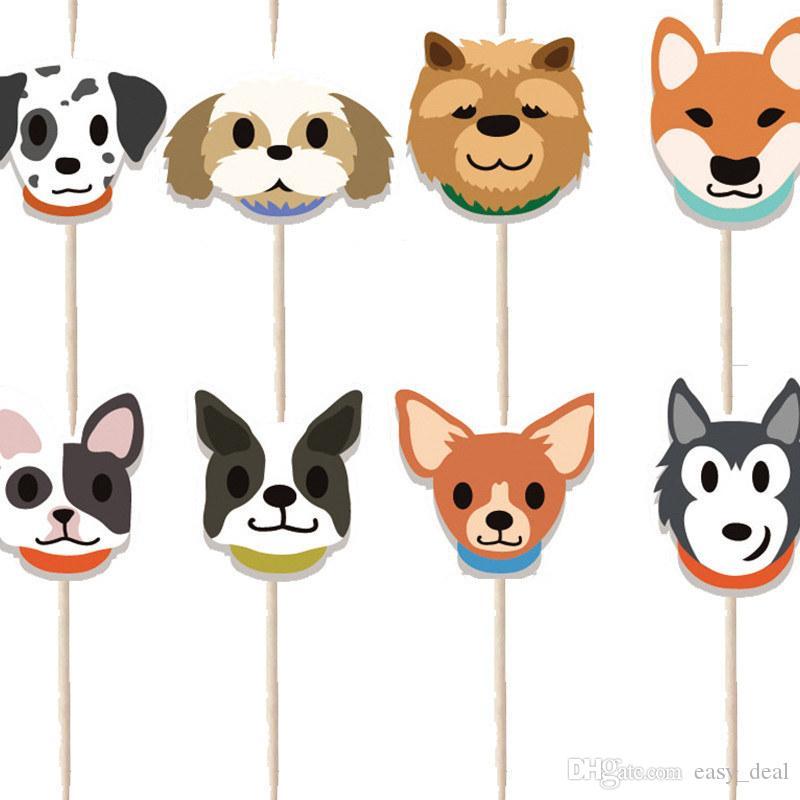 Pet Banner Cake Topper Bunner Decoration Dog Cat Pet Birthday Party Decoration Pet Party Decor Supplies yq01205