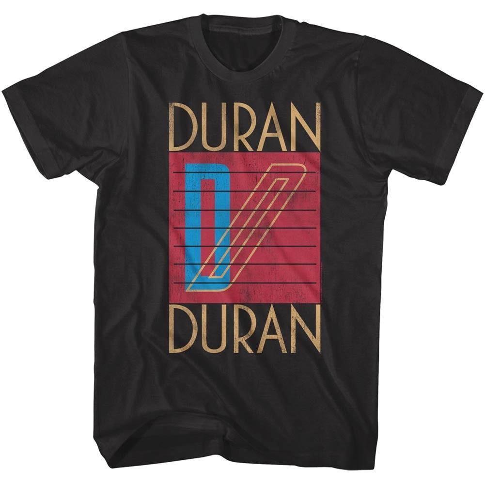 Duran Duran Logo Art 80er Pop-Männer-T-Shirt Rock Band Album Konzert Merch Bedruckte T-Shirts T200429