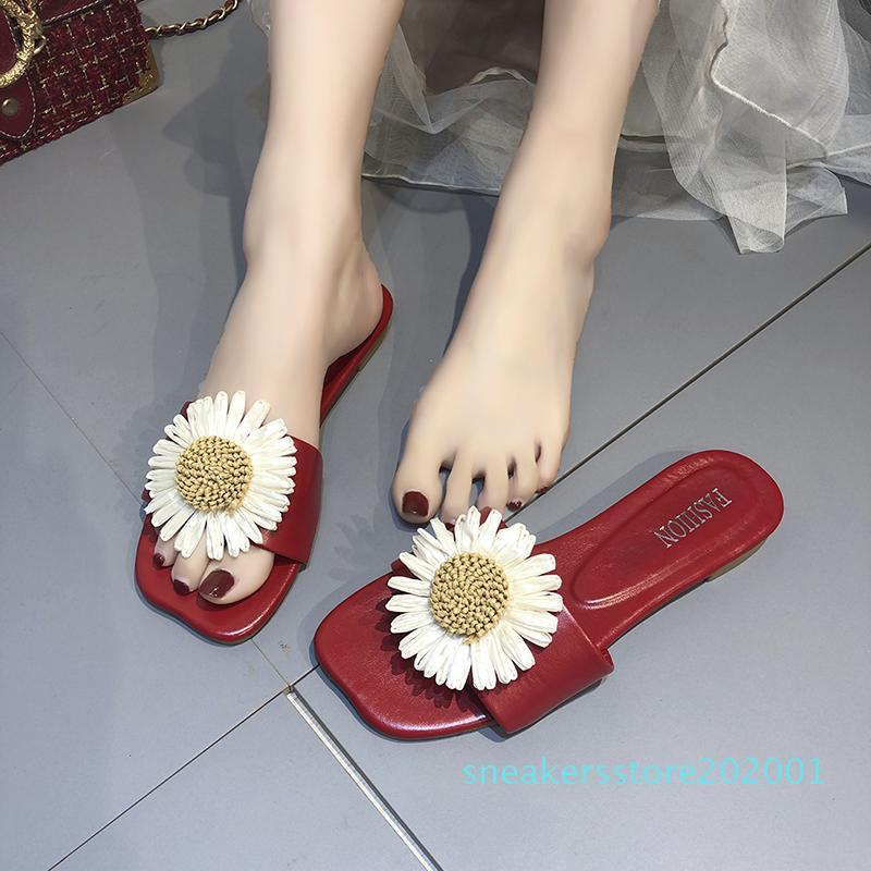 Plaj Terlik Kadın Dış Işık Kız Summers Ayakkabı Kadınlar Sandalet Çiçek Boş Bayanlar Moda Terlik