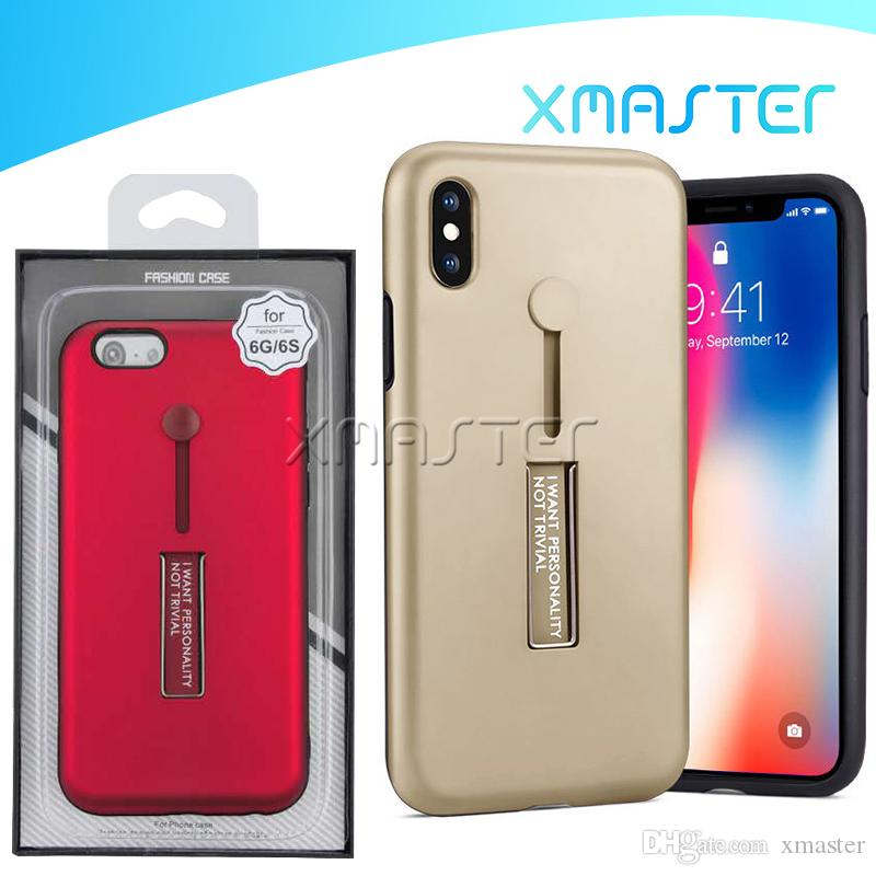 Finger Ring Holder Kickstand Hybrid Case Cover for iPhone 11 Pro 11 Pro Xs Max XR MOTO One Hyper with Retail Packaging xmaster