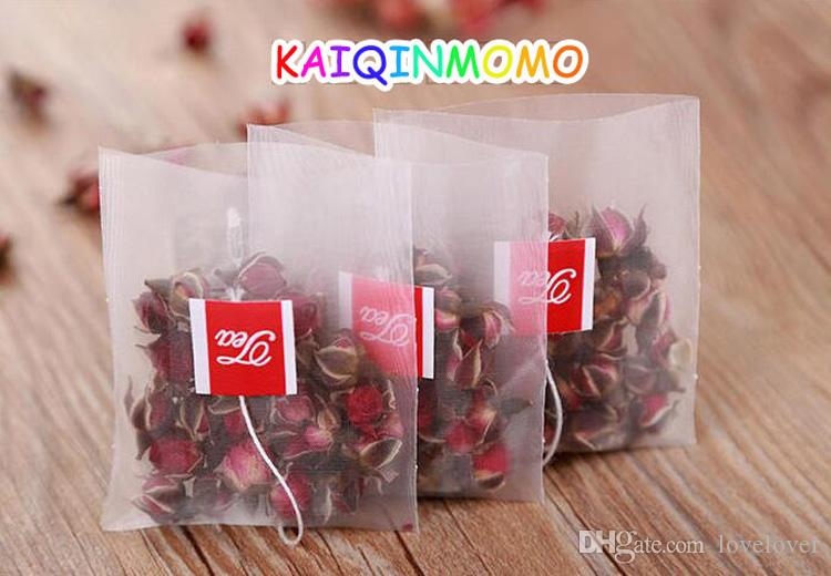 Empty Pyramid Nylon Teabags With String Seal Filter Herb Loose Soup Seasoning Filter Bag Tea Infuser Strainer Teabags 50pcs/lot