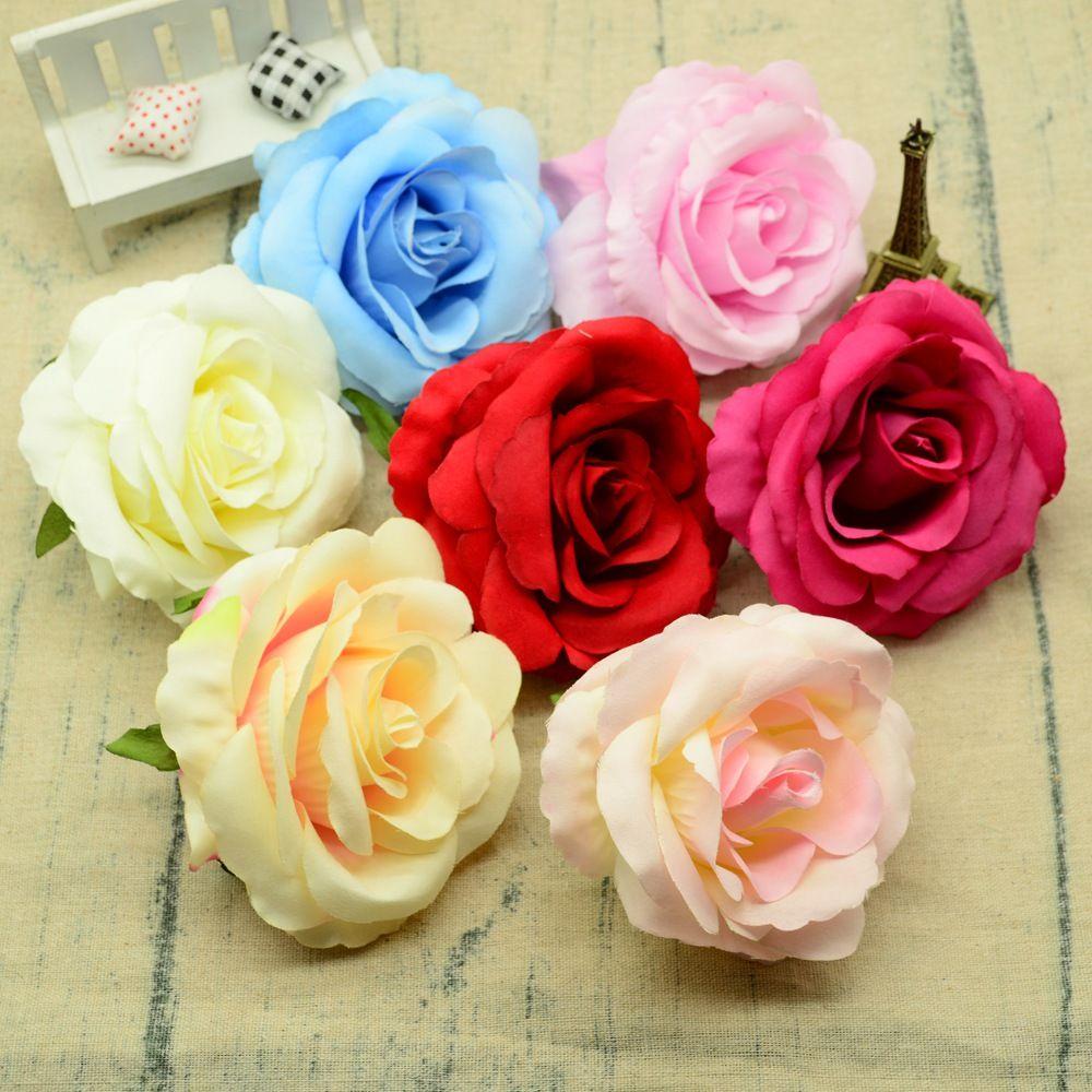 10CM Rose di seta da sposa accessori per la decorazione della casa fiori per vasi scrapbooking fai da te fiori artificiali economici da sposa