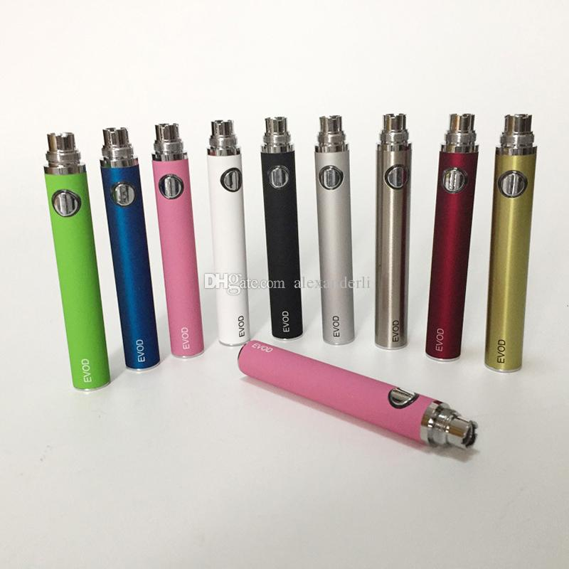 Electronic Cigarette Battery EGO EVOD Battery 650mAh 900mAh 1100mAh Colorful For MT3 CE Atomizers Clearomizer EGO EVOD Batteries