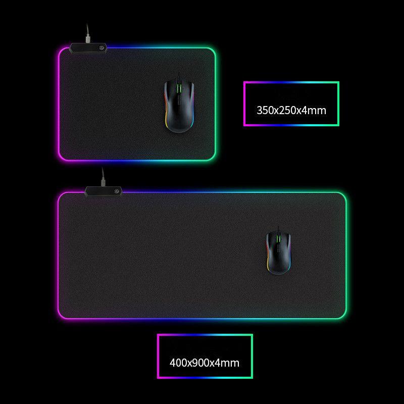 الصمام الخفيفة لوحة الماوس 300 * 800 * 4MM الكمبيوتر سماكة عبة RGB تنافسية لوحة المفاتيح سطح المكتب لوحة الماوس 5 الحجم دي إتش إل الحرة