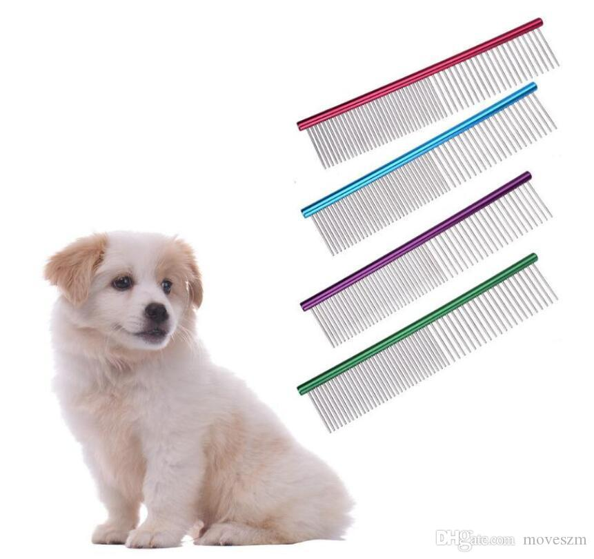 Dog Pet Puppy Grooming Comb Dog Stainless Steel Clean