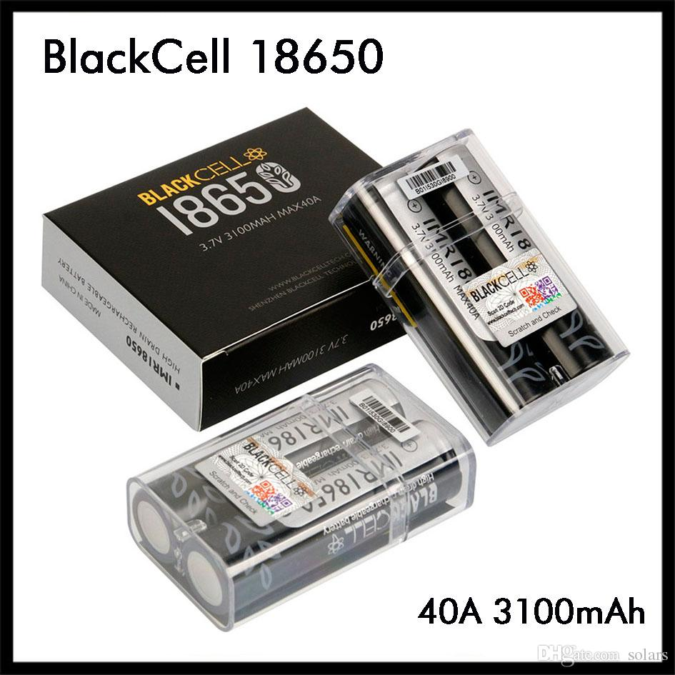 أصيلة BlackCell IMR18650 البطارية 3100mAh 40A 3.7V ليثيوم قابلة للشحن البطارية VAPE شقة الأعلى السامي هجرة 18650 صندوق وزارة الدفاع 100٪ الأصل
