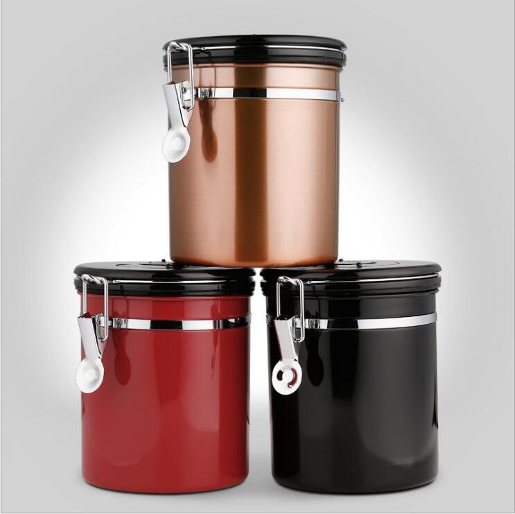 2019 Kitchen Stainless Steel Venting Coffee Beans Preservation Sealed Tanks  Food Savers And Storage Containers Kitchen Storage And Oragnization From ...
