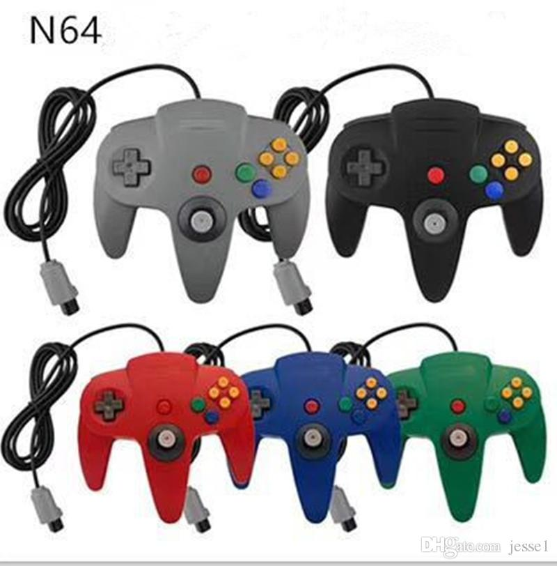 Qualität USB-Stiel-Game-Controller Pad Joystick für PC Nintendo 64 N64-System mit Kasten 5 Farben auf Lager DHL-freien