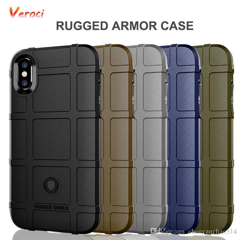 Estojo robusto para iphone xs max x xr xs capa para iphone 7 plus 6 6 s 8 além de armadura à prova de choque casos escudo bumper