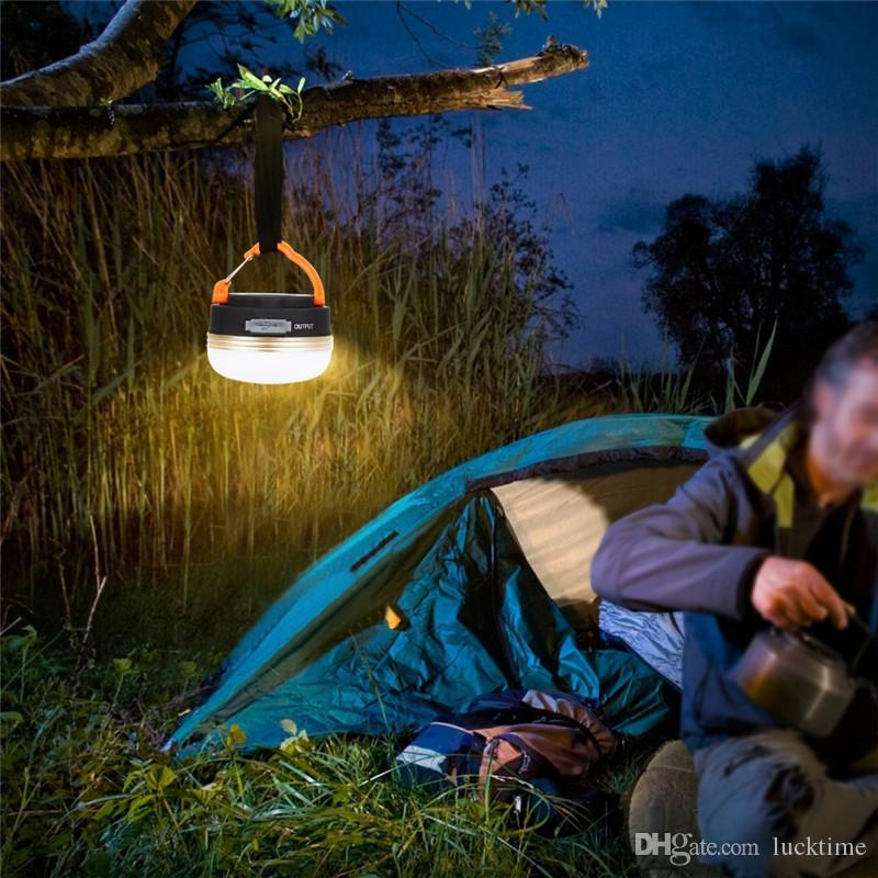 Mini portátil de la lámpara de camping luces 3W LED linterna de camping carpas al aire libre Senderismo noche luz de la noche recargable Lámpara colgante USB