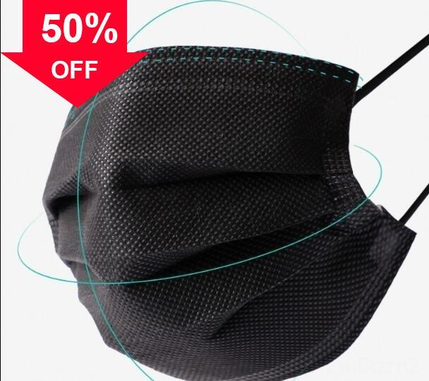 CTzn2 bocca della polvere del fronte Filtrante 3-laye Anti-Polvere foglio Meltblown Panno 3-Ply non tessuto maschere earloops Mask