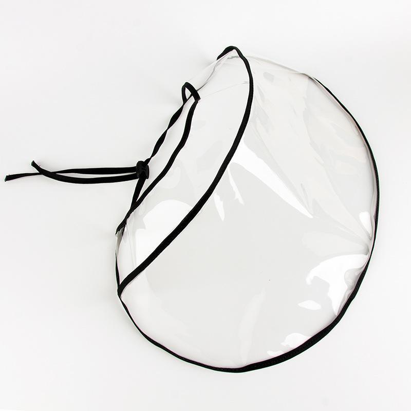 Leggero Ciclismo protettivo respiratore ad alta definizione trasparente TPU Anti Droplet Splash Visor Cap Mascherine di polvere maschera di protezione 7YH E1