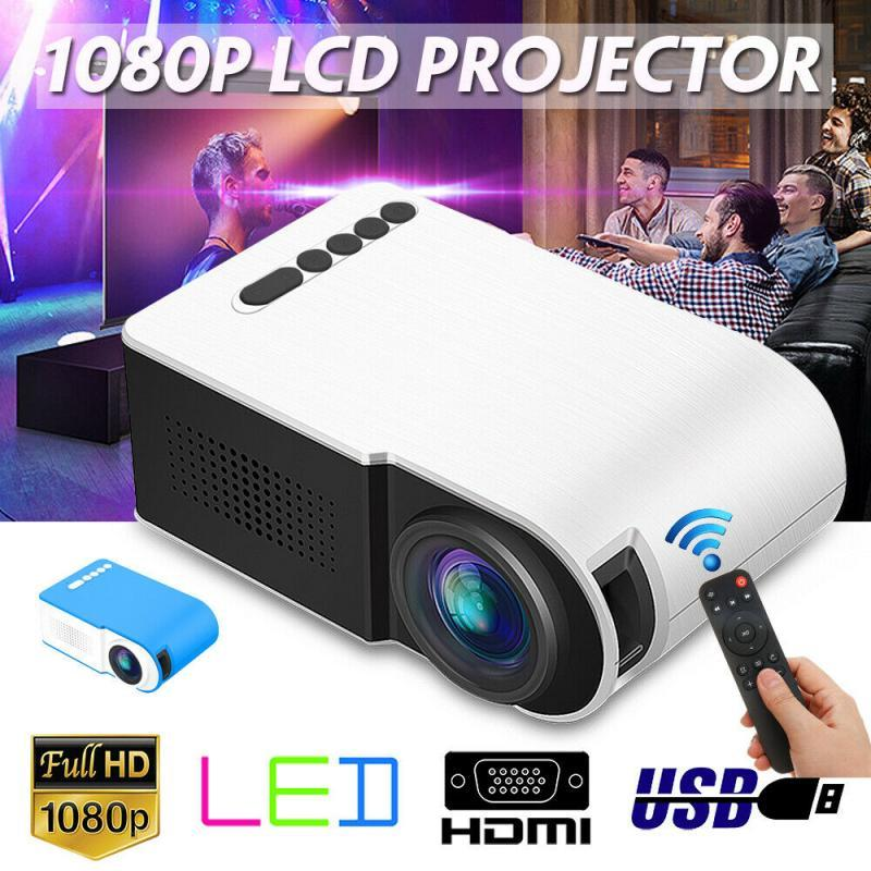 7000 Lumens 1080P LED Portable Mini Projector Full HD 3D Projectors TFT LCD Home Theater Video Multi-media