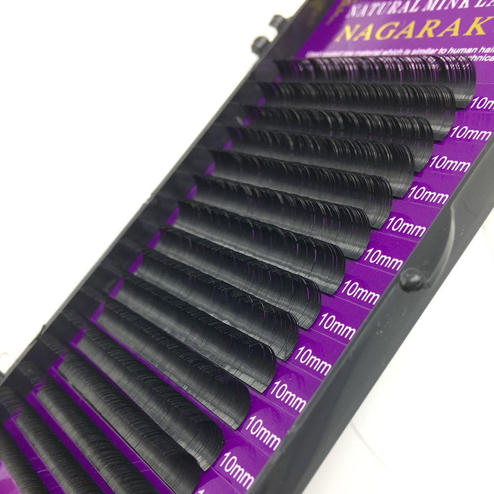 Moda 10 Casos / lote Alta Qualidade Extensão Dos Cílios Cílios Individuais Cílios Naturais Compõem Falso Cílios Postiços