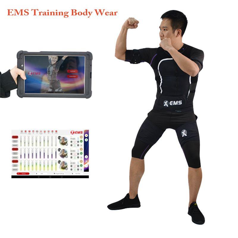 Profesional muscular eléctrica máquina de estimulador xems inalámbricas electroestimulación chaleco de gimnasia