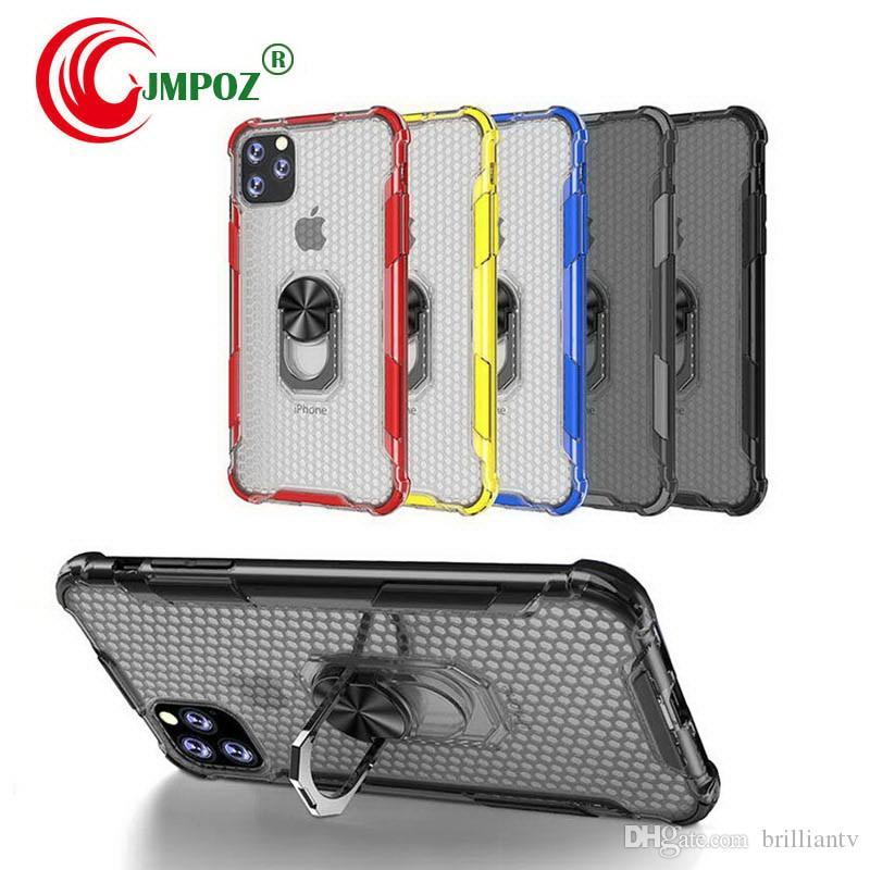 Soporte para coche caja de lujo del anillo en el 11 para IPhone Caso X Teléfono XS Max XR parachoques de silicona caso para IPhone XR X XS Max suave