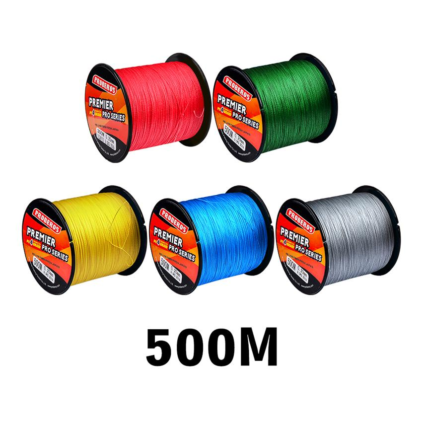 500m 4 Strand Braided PE Fishing line casting lines Spool Beading String Lines 5Colors 10lb~100lb Leave a message for color