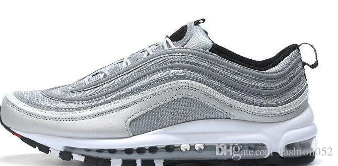Hommes de haute qualité Chaussures Casual 97 Invaincu OG Sneakers Femmes Sports de plein air 97 Chaussures Black Gold Fashion Casual chaussures EUR 40-45