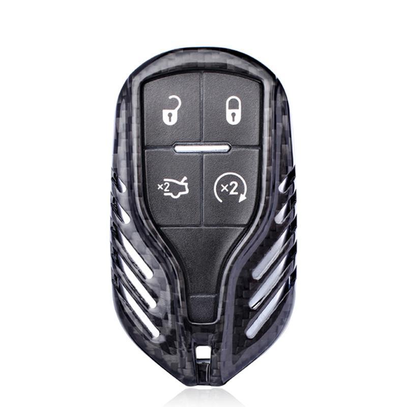 الألياف الكربون الأسود LCD مفتاح السيارة قذيفة غطاء لمازيراتي