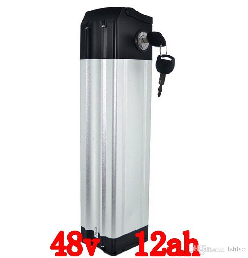 48 فولت 12Ah ebike بطارية 500 واط بطارية ليثيوم دراجة كهربائية 48 فولت مع 54.6 فولت 2a شاحن ، bms بطارية حزمة 48 فولت مجانية