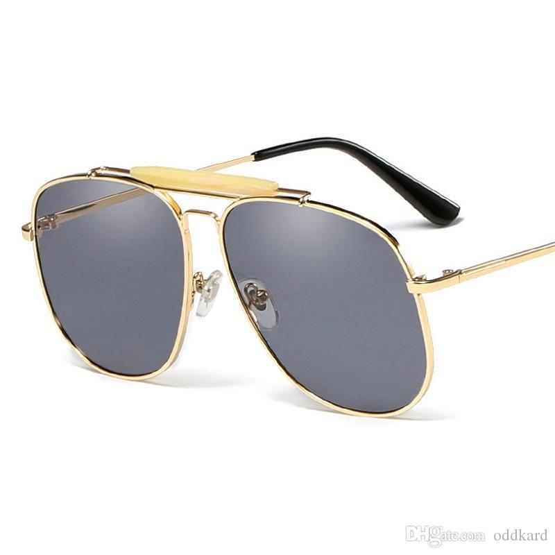 النظارات الشمسية الطيار الرجال النساء السود الوردي نظارات uv400 طلاء نظارات عدسة مسطحة ظلال هلالية دي سولي صب أرض الإنسان