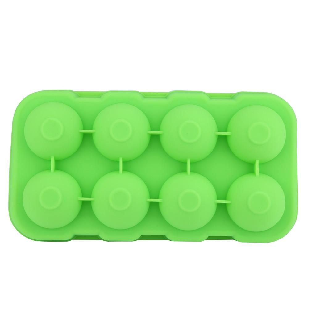 Forma esférica del cubo de hielo fabricante de 8-esférica bandeja de hielo del molde contenedor de almacenamiento de cocina Accesorios de hielo Bandeja Bandeja Molde