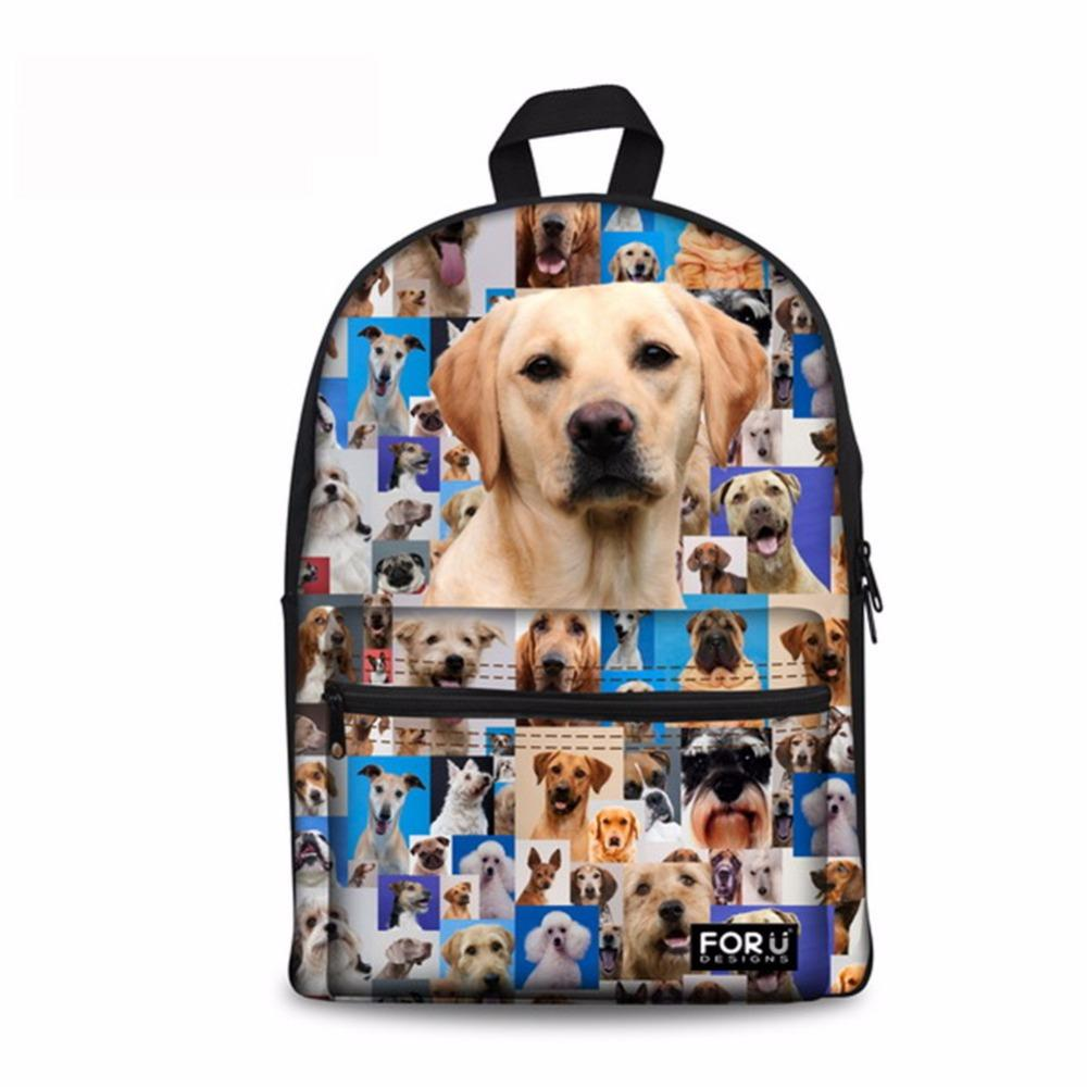 Noisydesigns Crowed dogs 3D Printing Shoulder Backpack for Teen students kid gifts bag Customize image Children Schoolbag