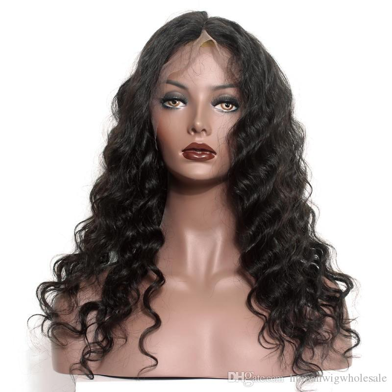 Wholesale 10A Best Quality wig selling directly from factory Fashional Looking deep wave full lace wig Tangle Free Glueless wig