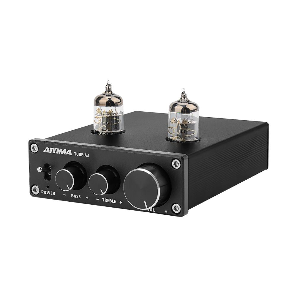 AIYIMA DC12V 6J1 ламповый усилитель желчного предусилителя HIFI предусилитель Регулировка низких частот высоких частот Аудио предусилитель для аудио спикера