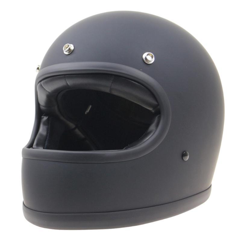 Rétro moto Casques visage complet pour Dirt bike Scooter Racing Casque avec Motorcross DOT certificat pour Femme Homme Blanc Noir