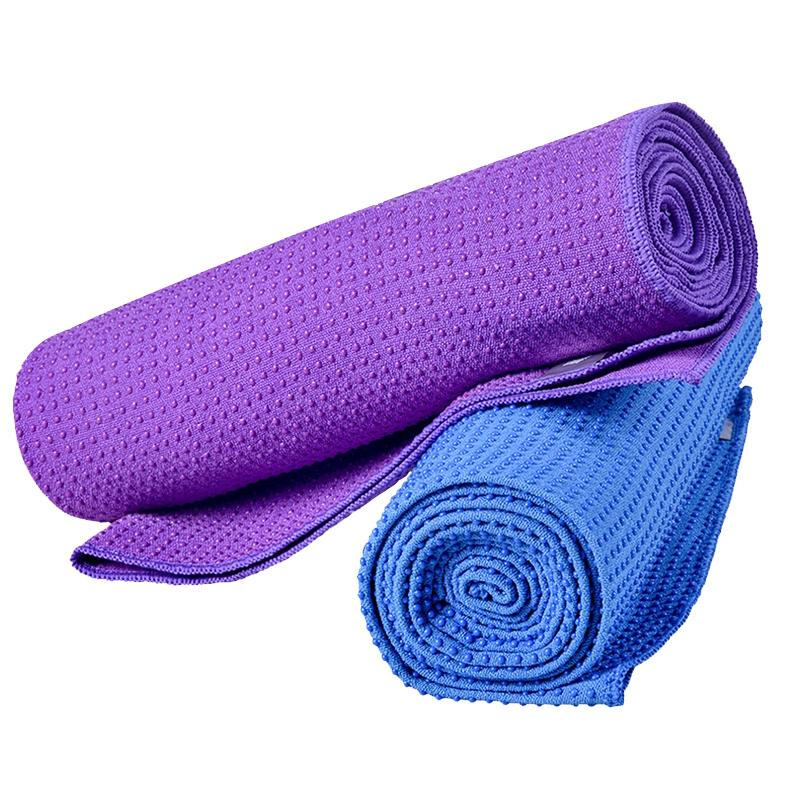 Beginner Exercise Mat Yoga Towel Non-slip Sweat-absorbent Blanket Environmental Gym Fitness Yoga Studio Essential Portable Towel