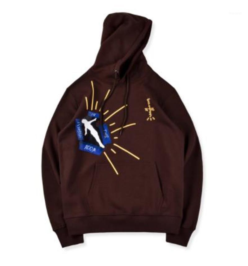 Hoodies mode Lettre vrac Imprimer Mens Big Pocket hoodies hommes Vêtements décontractés Travis Scott Mens Designer