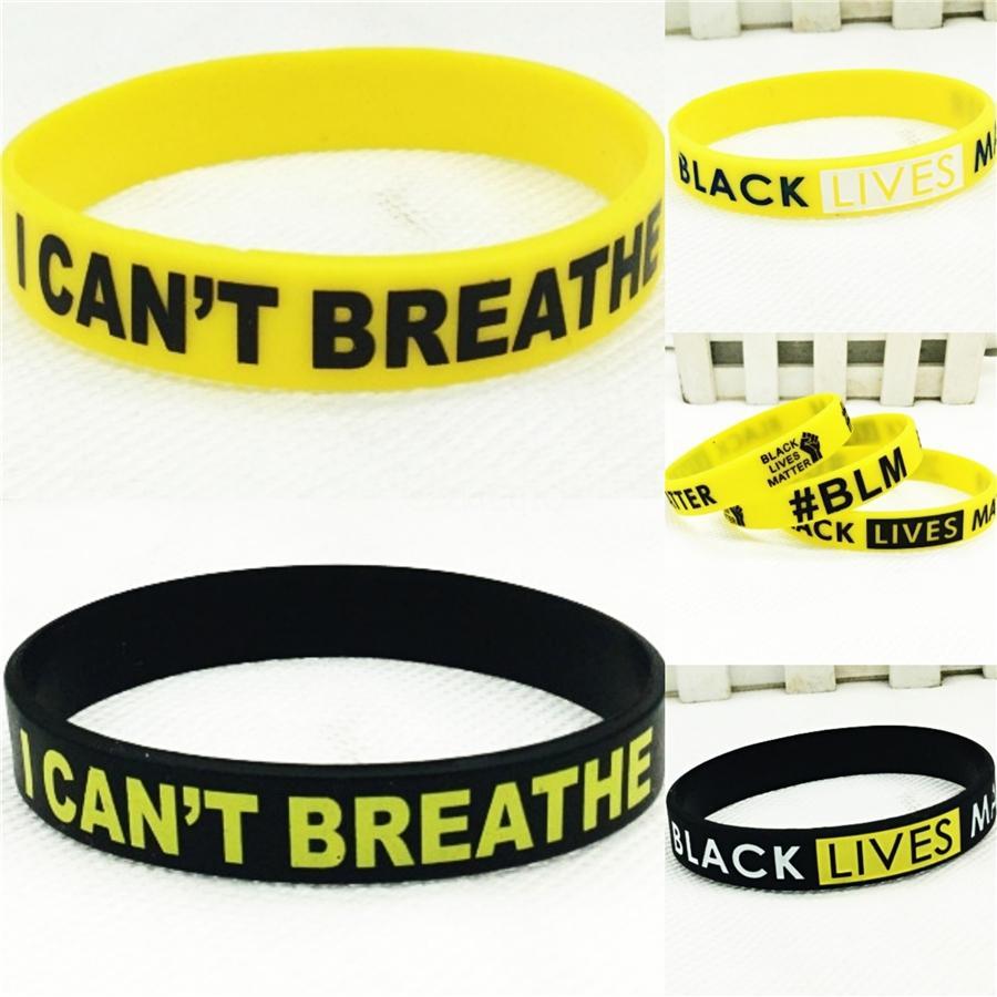 Черные Lives Matter! Мужчины ювелирные изделия черный силиконовой резины Браслет серебро черный крест из нержавеющей стали Модные мужские браслеты # 96455