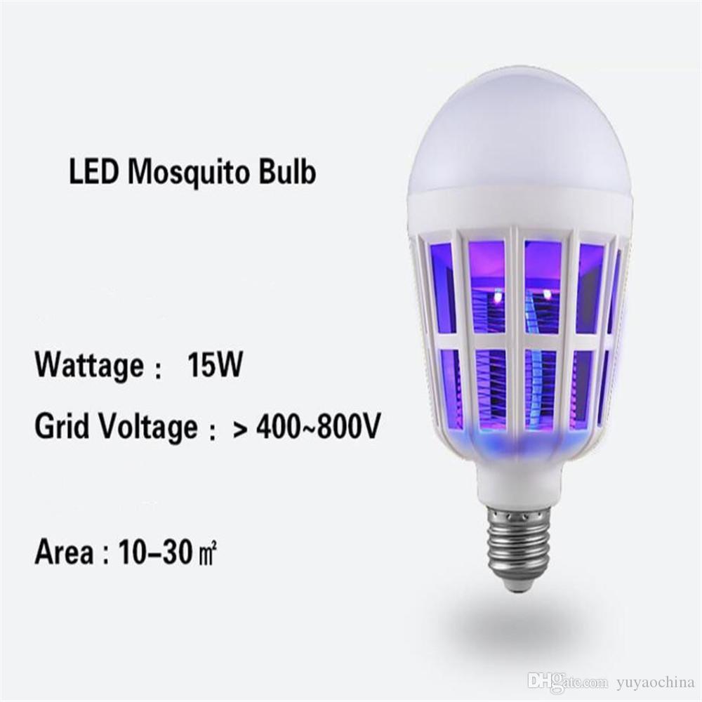 모기 킬러 램프 LED 15W 가정용 야외 에코 안전 깨끗한 전구에 대 한 전자 안티 곤충 버그 플립 Zapper