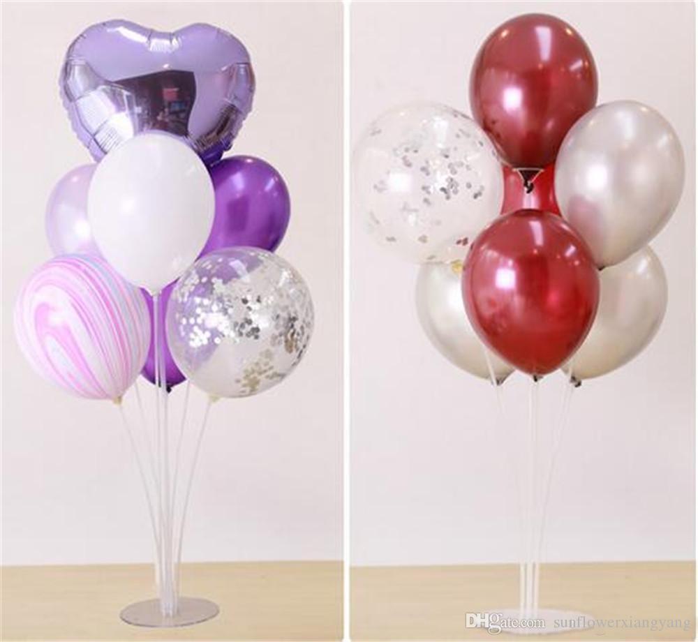 Hot Evento 70CM Balão Titular Coluna Base de Suporte claro da vara balão plástico Suporte para festa de aniversário do casamento Crianças Balões Decoração