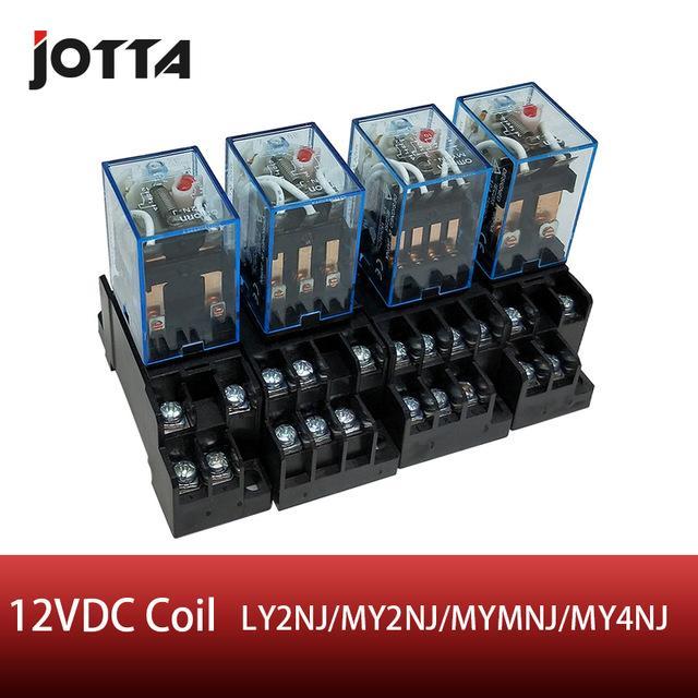 릴레이 LY2- / 2 / MY3N-J / MY4N-J는 / 소켓베이스 홀더 고품질 범용 마이크로 미니 DPDT 릴레이 코일 DC 12V 릴레이