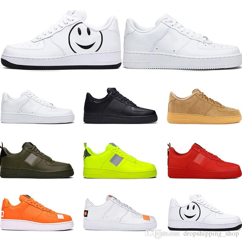 Nike Air Force 1 2020 Hombres Utilidad Clásico Negro Blanco Voltio Mujeres  Zapatos Casuales Red Skate High Low Cut Wheat Trainer Sports Sneaker Tamaño  ...