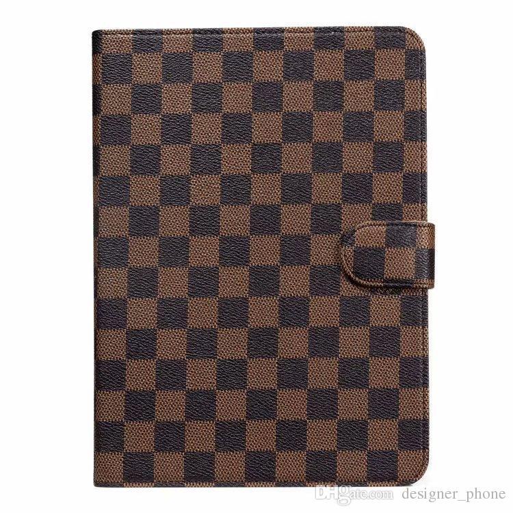 Caso clássico do monograma de moda com suporte e Folio para Ipad Air para Ipad Mini Premium Cover Leather Caixa pockes Shell com fecho magnético