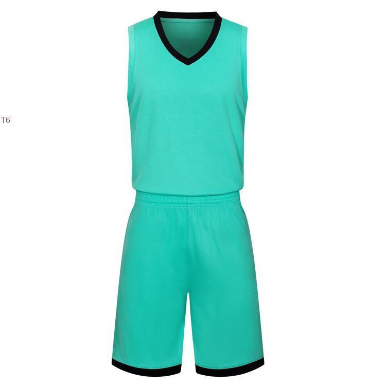 2019 New Blank Basketball Jerseys gedruckt Logo Mens Größe S-XXL günstiger Preis schnelles Verschiffen gute Qualität Teal Grün T003nh