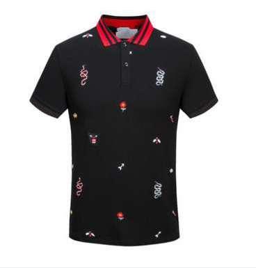 Neue heiße luxus italien hemd t-shirt high street stickerei t-shirts für männer schlange biene tiger marke shirt shirt männer