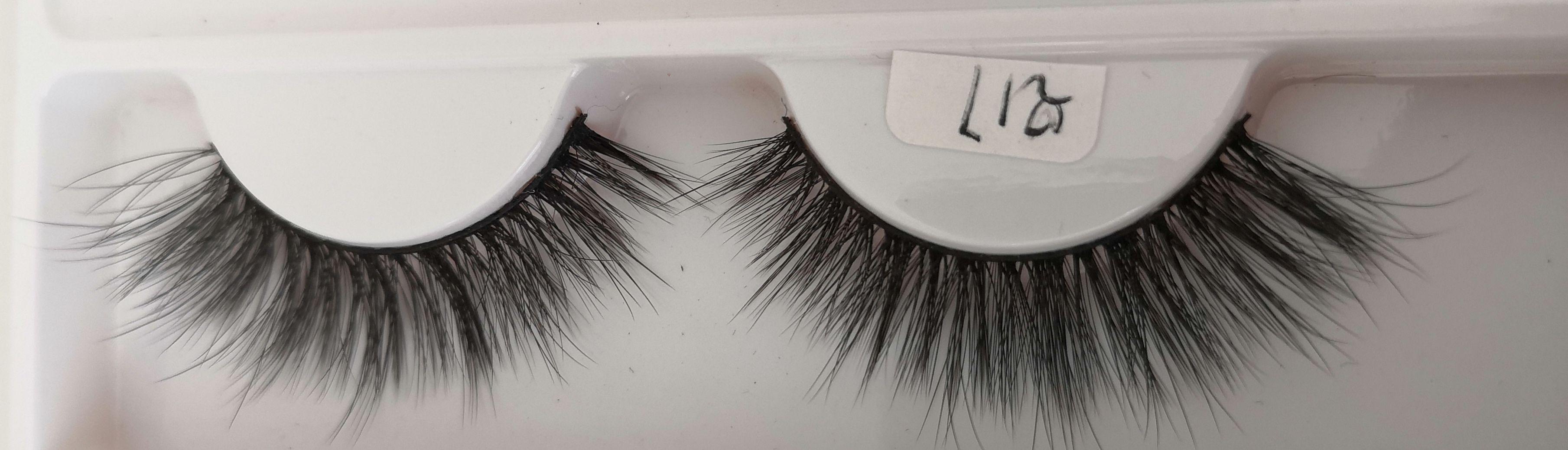 Q17 False eyelashes 3D chemical fiber 0.07 soft natural realistic custom brand custom packaging handmade wholesaler
