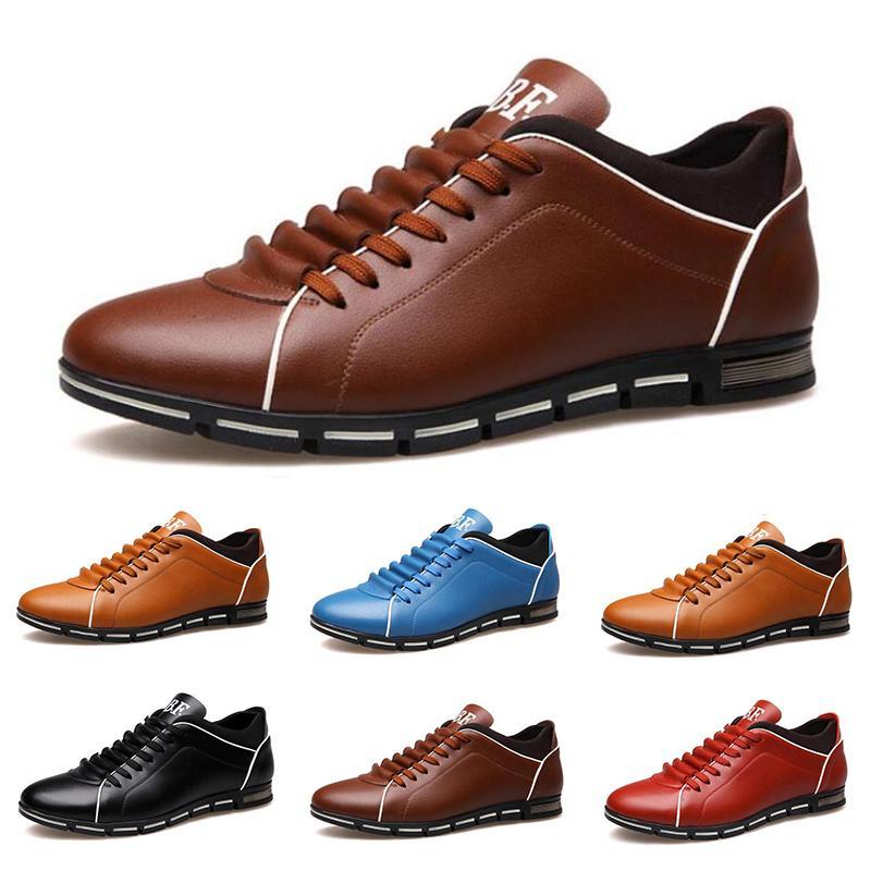 homens barato venda sapatos de couro casuais vermelho da castanha luz azul moda das sapatilhas dos homens sapato plana preto tamanho exterior curta 40-45 # 21