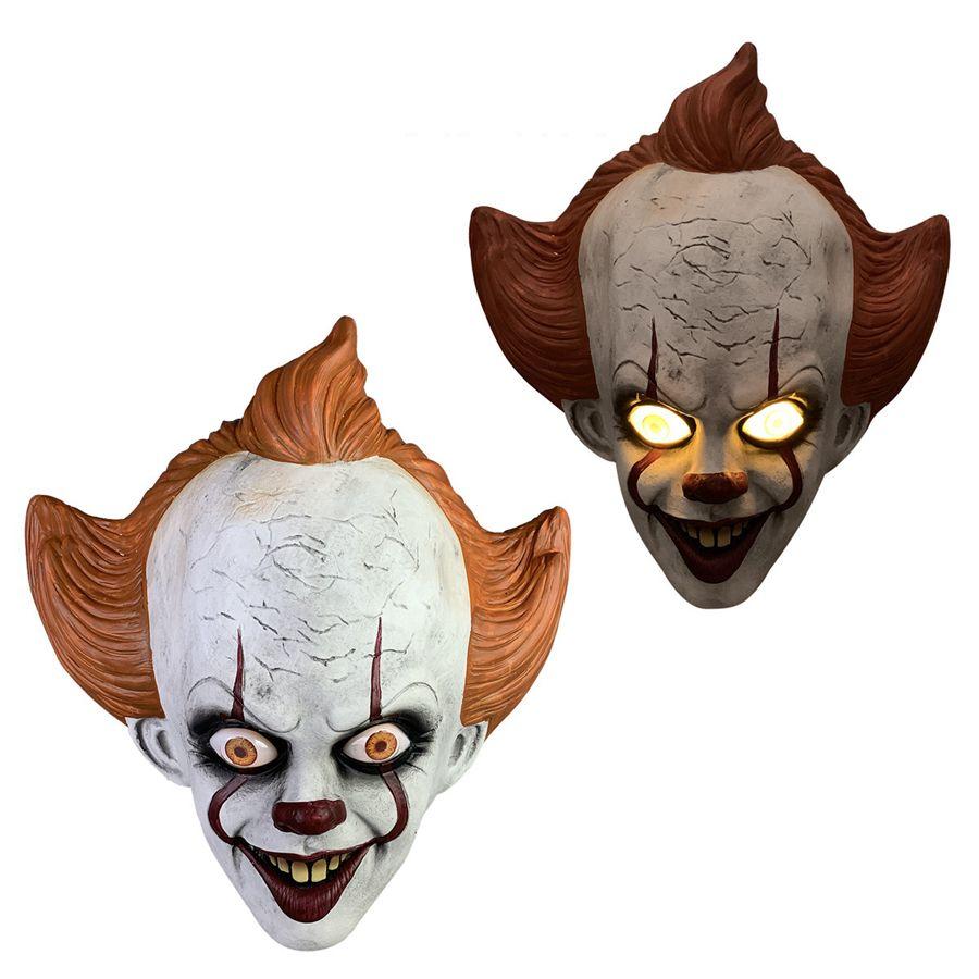 Силиконовая Movie Стивена Кинга Это 2 Joker Pennywise Маска анфас Horror Клоун Латекс маски Halloween Party Ужасного Косплей Prop маска RRA2127