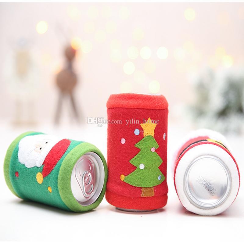 새로운 크리스마스 와인 병 커버 산타 클로스 크리스마스 트리 벨트 크리스마스 장식 저녁 식사 테이블 장식 축제 파티 용품 CD002
