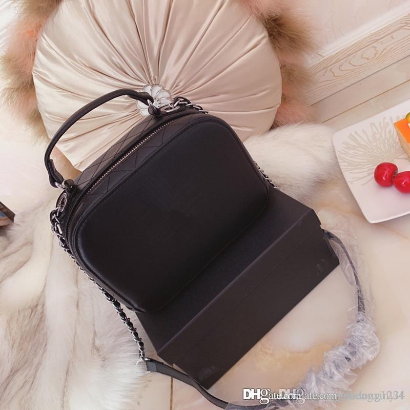 Piccola borsa a tracolla in vera pelle per borse a tracolla in vera pelle con tracolla a catena dolce per ripristinare antichi modi con il pacchetto in scatola