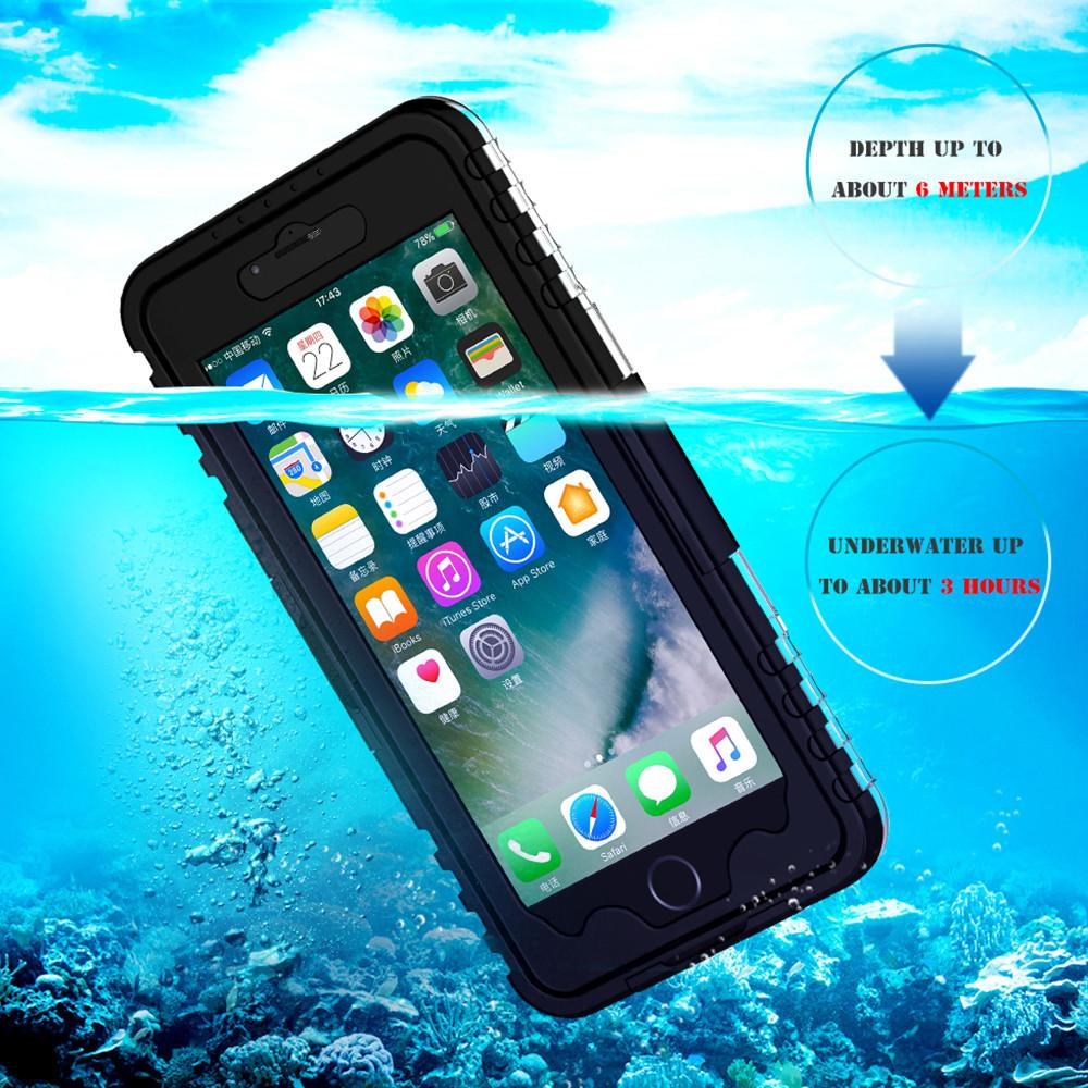 KISSCASE Fashion Waterproof Case For Samsung Galaxy S8 S7 S6 Edge Plus Bag For iPhone X 8 7 6S 6 For Samsung S3 S4 S5 Note 4 5