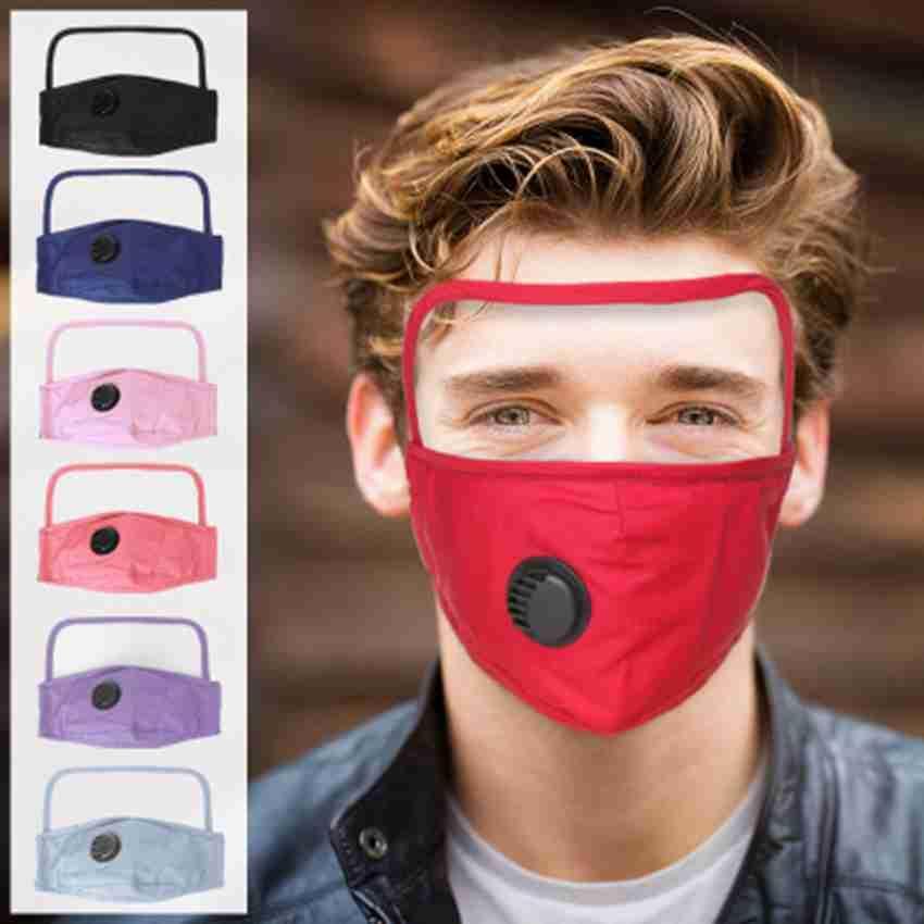 8 цветов маска для лица с глазным щитом пылезащитная моющаяся хлопчатобумажная клапанная Маска Велоспорт многоразовая маска для лица защитный лицевой щиток ZZA2403