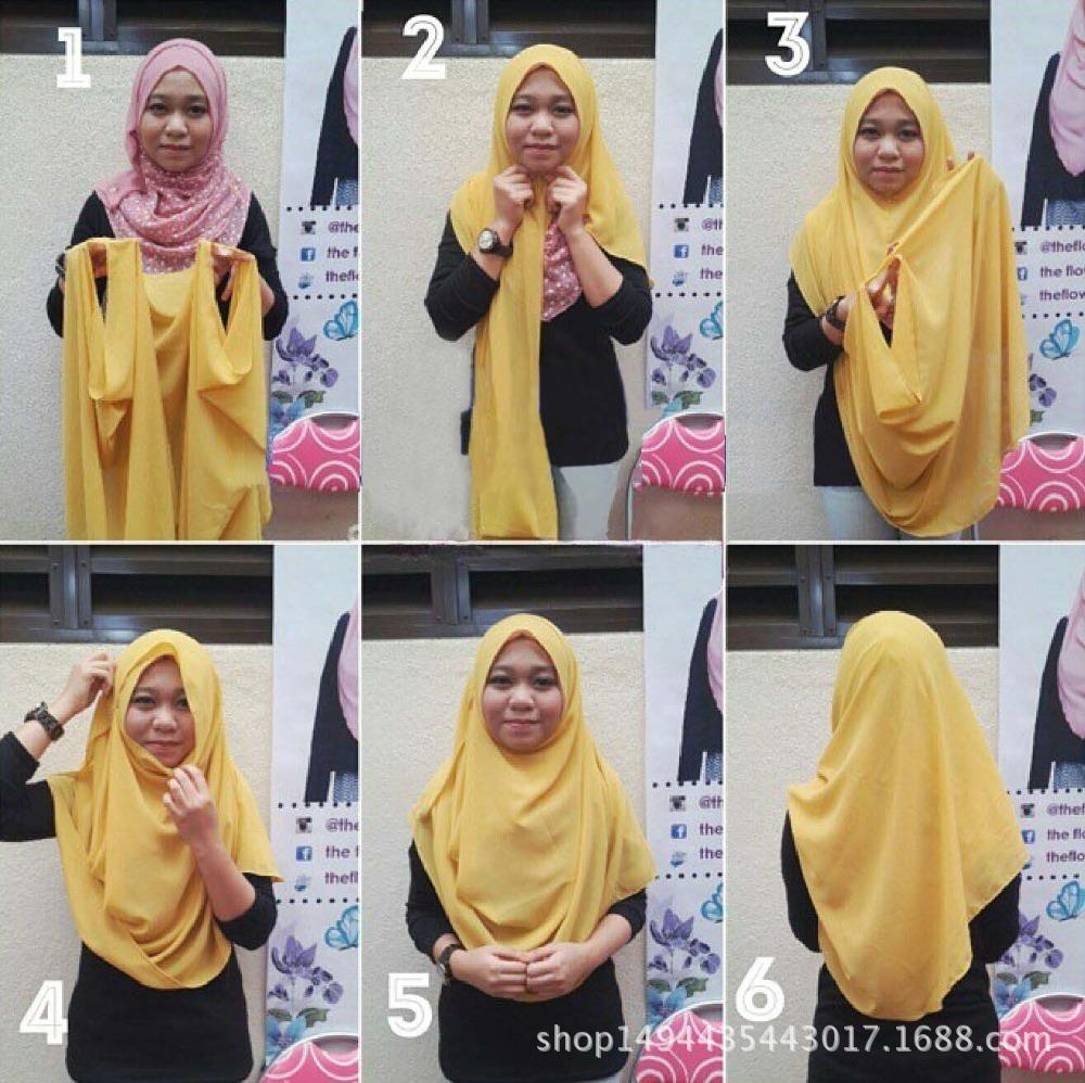 High Quality Double Loop Instant Hijab Modal Cotton Jersey Islam Scarf Shawl Turban Female Headscarf Bonnet Ready To Wear 1pc
