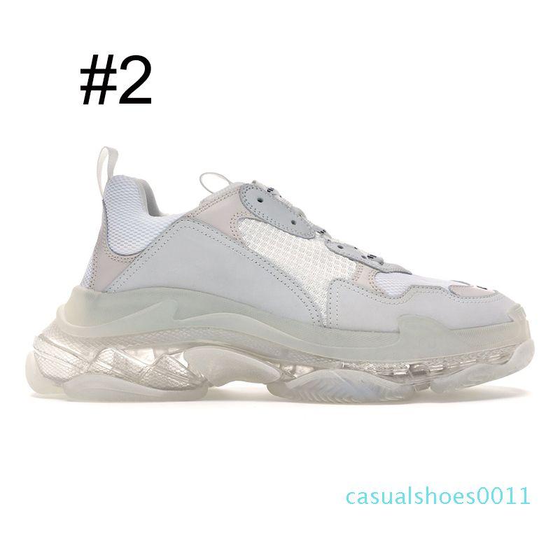 sapatos de luxo designer de moda Nova triplos s para homens mulheres clara único neon verde preto branco homens formadores vermelhas tênis de plataforma 11c